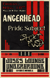 Pride Subject @ Lounge Underground w/Angerhead and Short Fuse