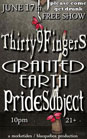 Pride Subject w/ Thirty9Finger and Granted Earth @ Cafe Mare - Santa Cruz, CA